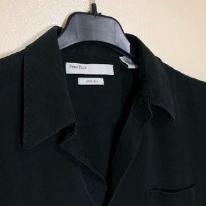 Perry Ellis 100% Silk Button Front Shirt